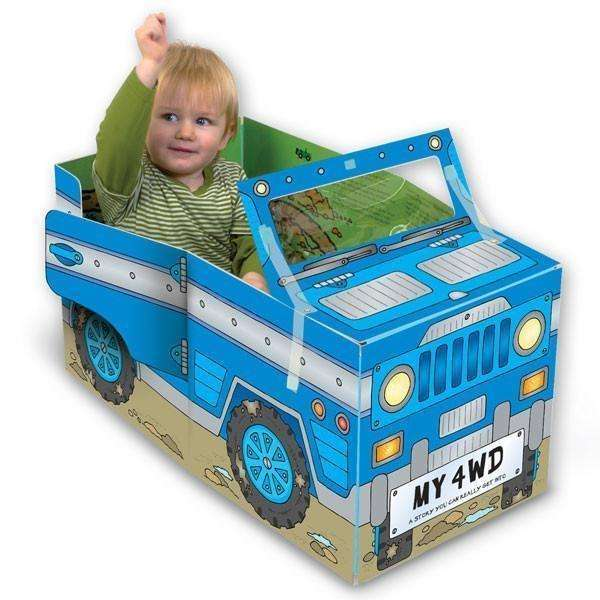 Miles Kelly Convertible Four-Wheel Drive 3 in 1 Book Playmat and Toy for kids