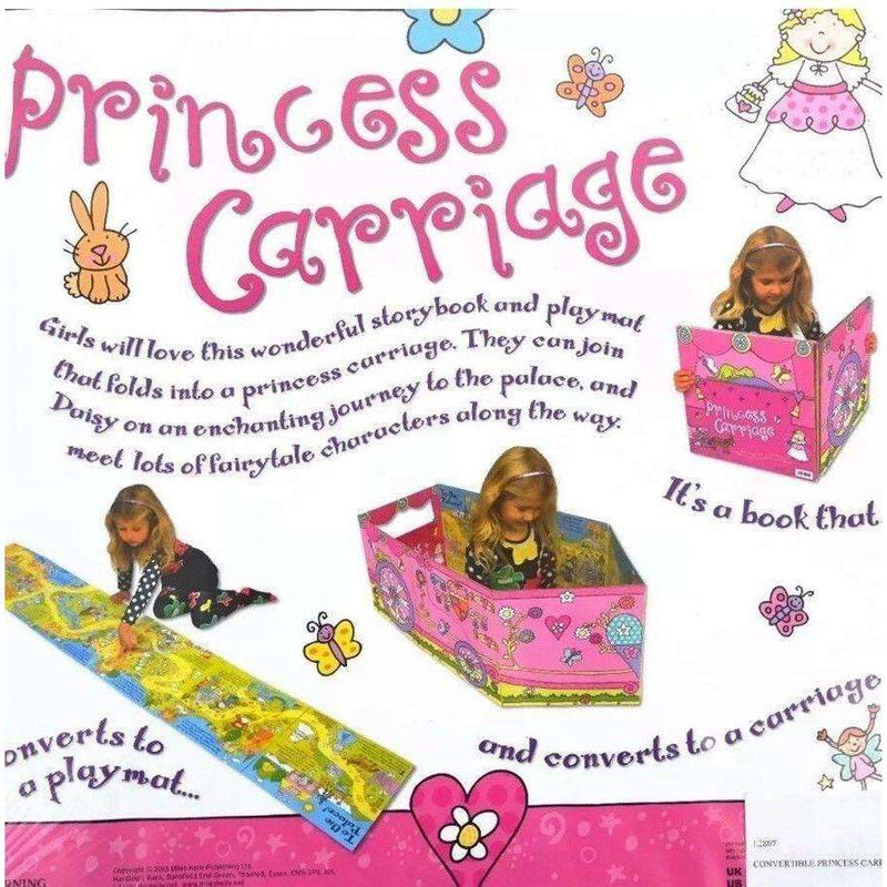 Miles Kelly Convertible Princess Carriage 3 in 1 Book Playmat and Toy for Girls