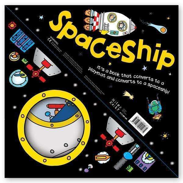 Miles Kelly Convertible SpaceShip 3 in 1 Book Playmat and Toy for Children