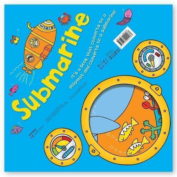 Miles Kelly Convertible Submarine 3 in 1 Book Playmat and Toy for Children