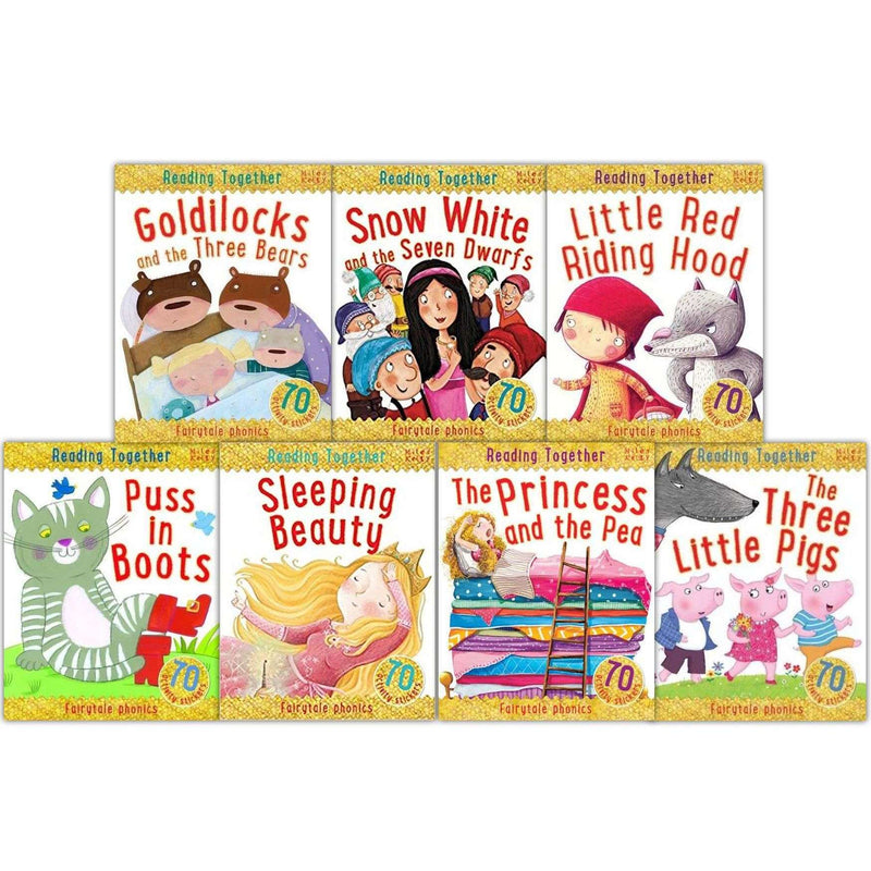 Miles Kelly Reading Together 7 Books Set Collection Fairytale Phonics Activities