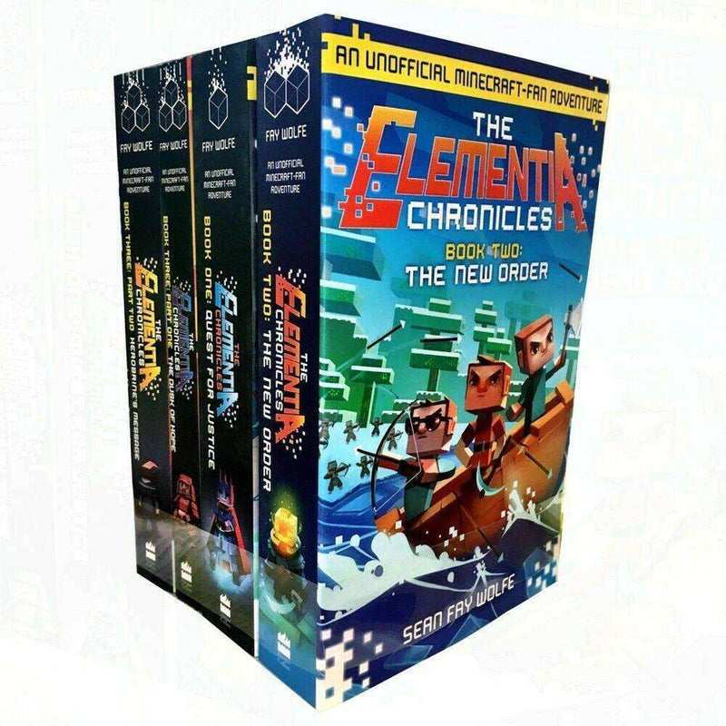 Minecraft Elementia Chronicles Series 4 Books Collection Set By Sean Fay Wolfe
