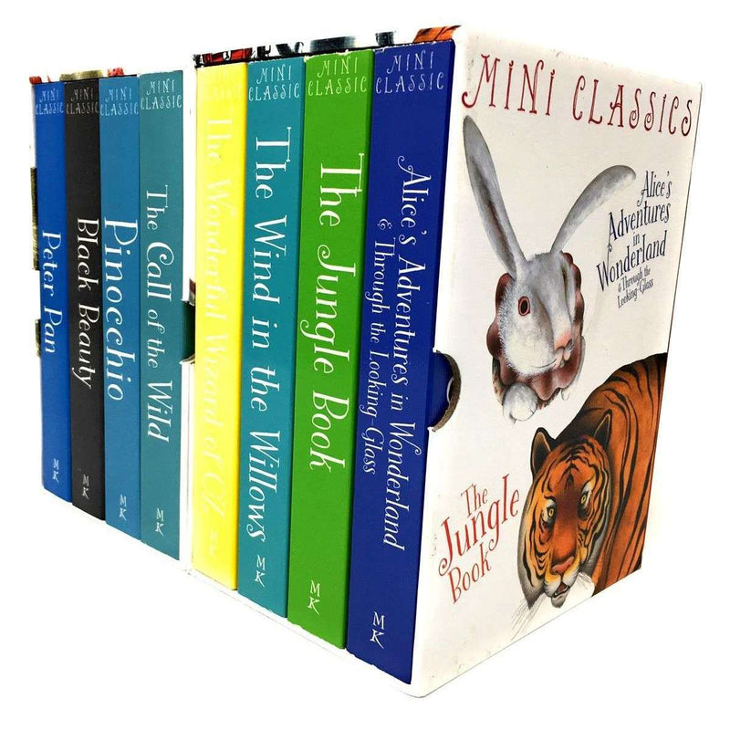 Mini Colour illustrated Classics 8 Books Collection Box Set Peter Pan Black Beauty Jungle Book (Series 1 and 2)