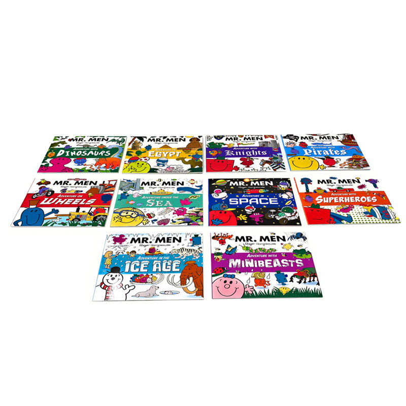 Mr. Men Adventures Collection 10 Books Children Set Pack Inc Superheroes