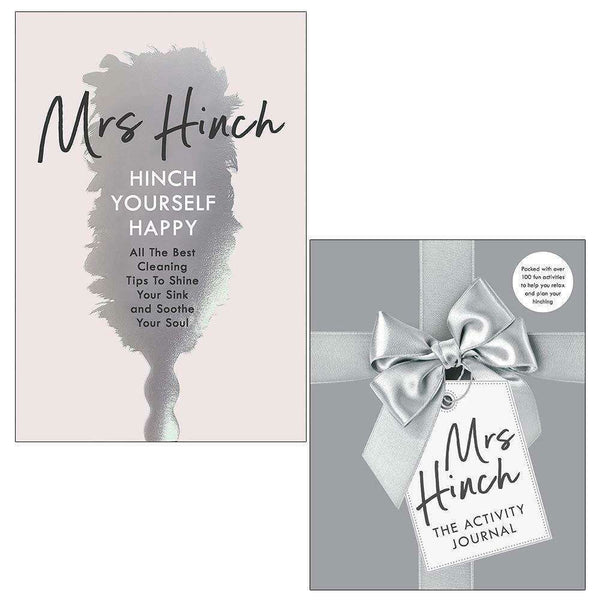 Mrs Hinch 2 Books Collection Set The Activity Journal, Hinch Yourself Happy