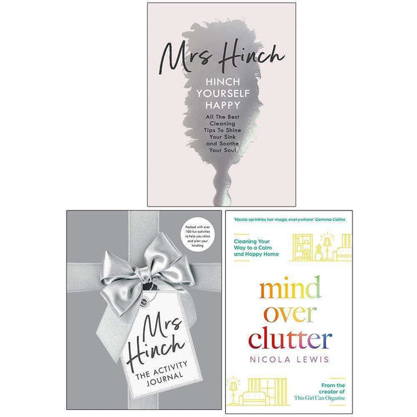 Mrs Hinch & Nicola Lewis Collection 3 Books Set (The Activity Journal, Hinch Yourself Happy & Mind Over Clutter)