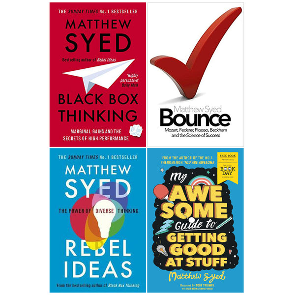 Matthew Syed 4 Books Collection Set Rebel Ideas, Black Box, My Awesome, Bounce
