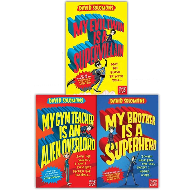 My Brother Is A Superhero Series Collection 3 Book Set By David Solomons