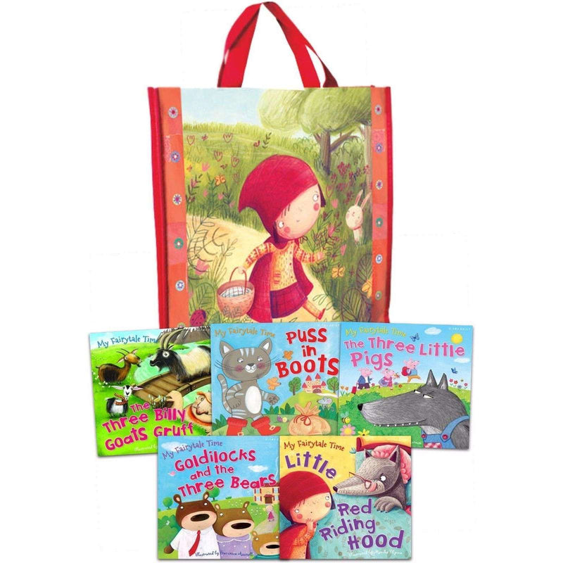 My Fairytale Time Collection 5 Books Set in a Bag Children Pack Goats, Pigs