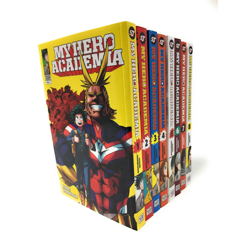 My Hero Academia Series(Vol 1-8) Collection 8 Books Set By Kohei Horikoshi
