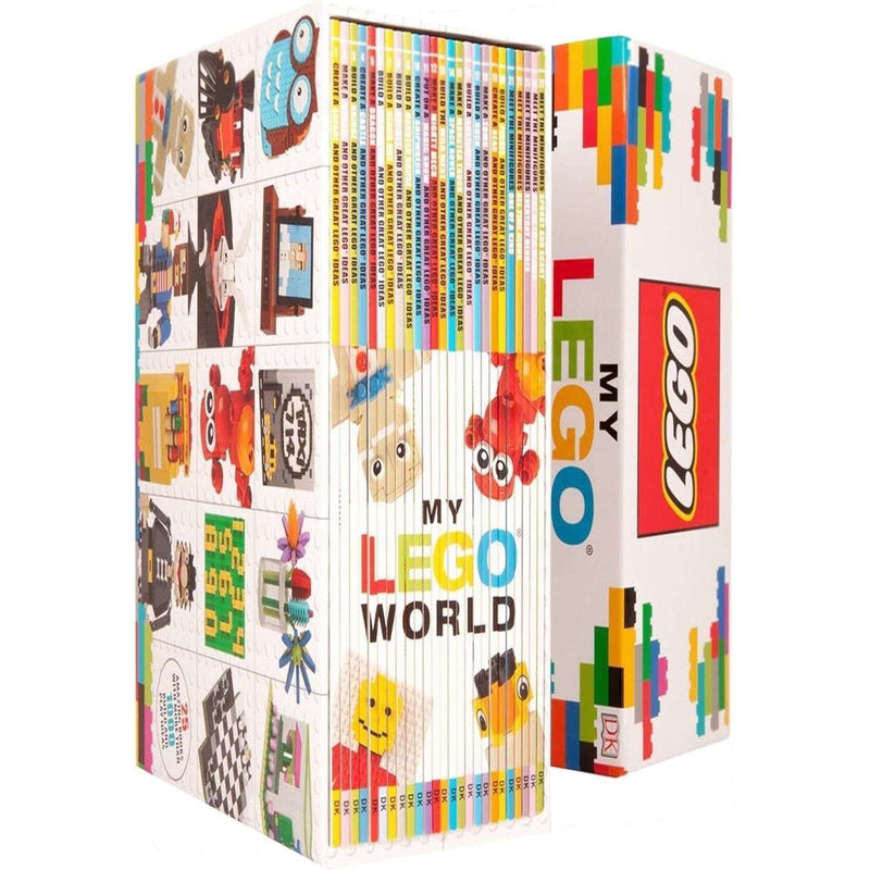 My LEGO World 25 Books Collection Box Set With More Than 1000 Build & Play Ideas