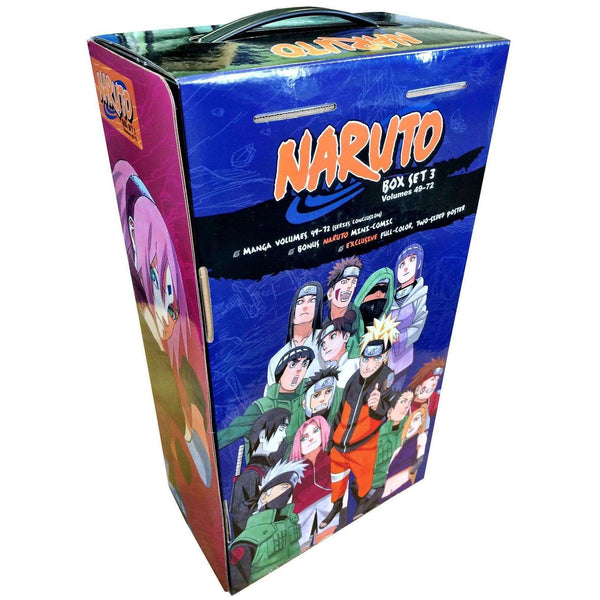 Naruto Box Set 3: Volumes 49-72 Children Graphical Books Box Set Collection