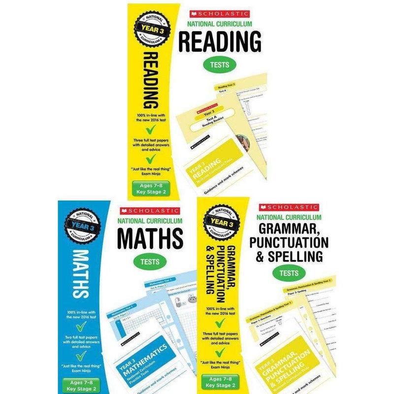 National Curriculum SATs Tests: Year 3 Ages 7-8 Key Stage 2 Pack of 3 (Maths, G