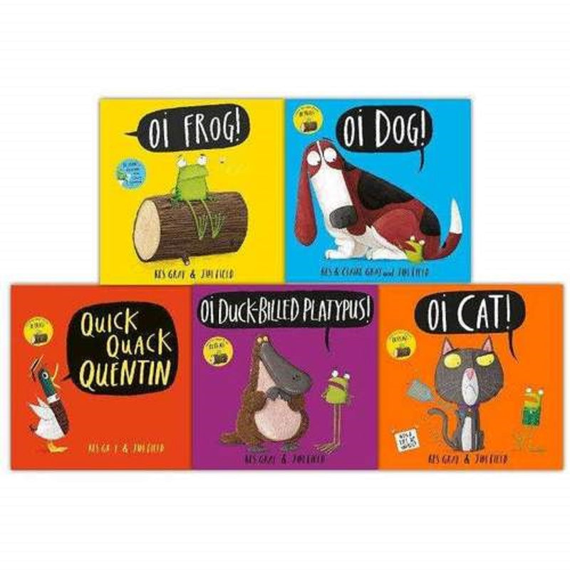 Oi 5 Books Collection Set Oi Frog, Oi Dog, Quick Quack Quentin, Oi Platypus