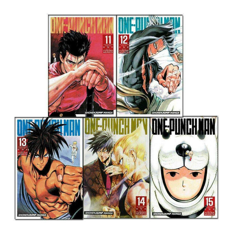 One Punch Man Volume 11-15 Collection 5 Books Set (Series 3) Children Manga Book