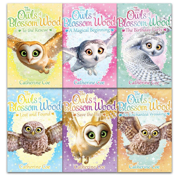 Owls of Blossom Wood Collection 6 Books Set by Catherine Coe Children Pack
