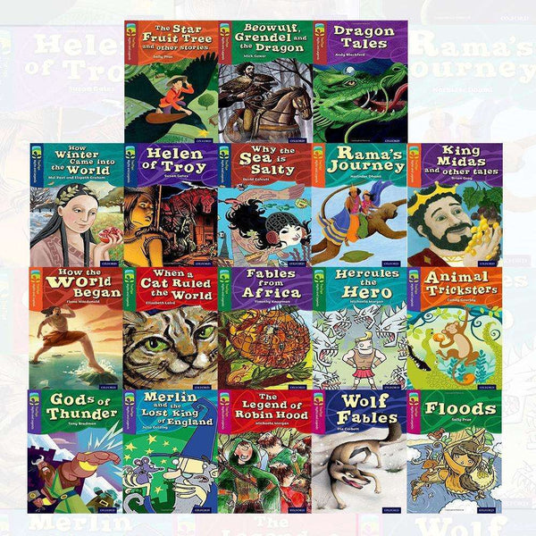 Oxford Reading TreeTops Myths and Legends Series 18 Books Set Collection