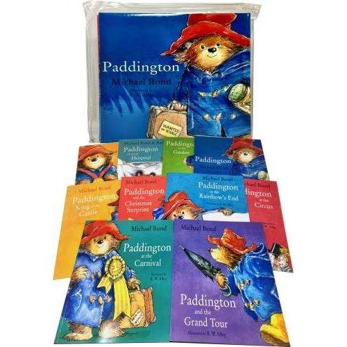 Paddington Bear 10 Books Collection Pack Set in Carrier Bag By Michael Bond