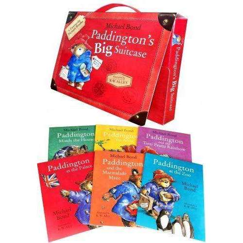 Paddington Bear x 6 Suitcase Collection Michael Bond 6 Picture Books Set Children