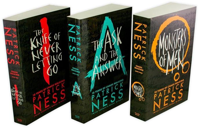 Patrick Ness Chaos Walking series 3 Books Set Collection, The Ask And The Answer
