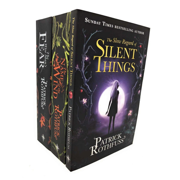 Patrick Rothfuss 3 Books Collection Set, Silent Things, Wind, Fear