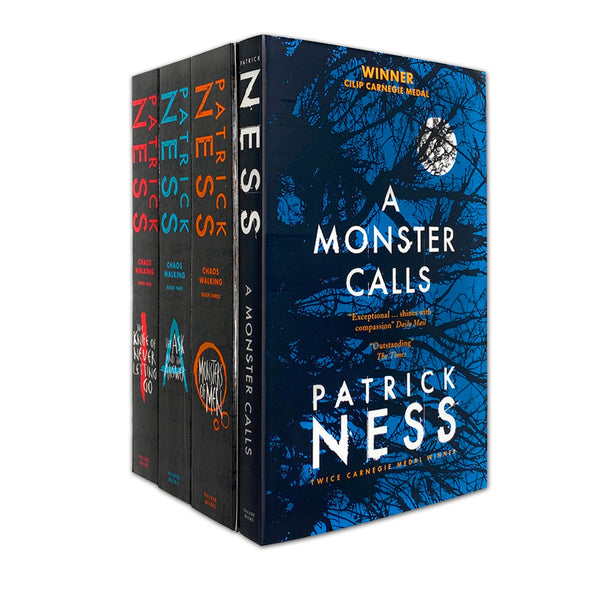 Patrick Ness Chaos Walking series 4 Books Set Collection, The Ask And The Answer