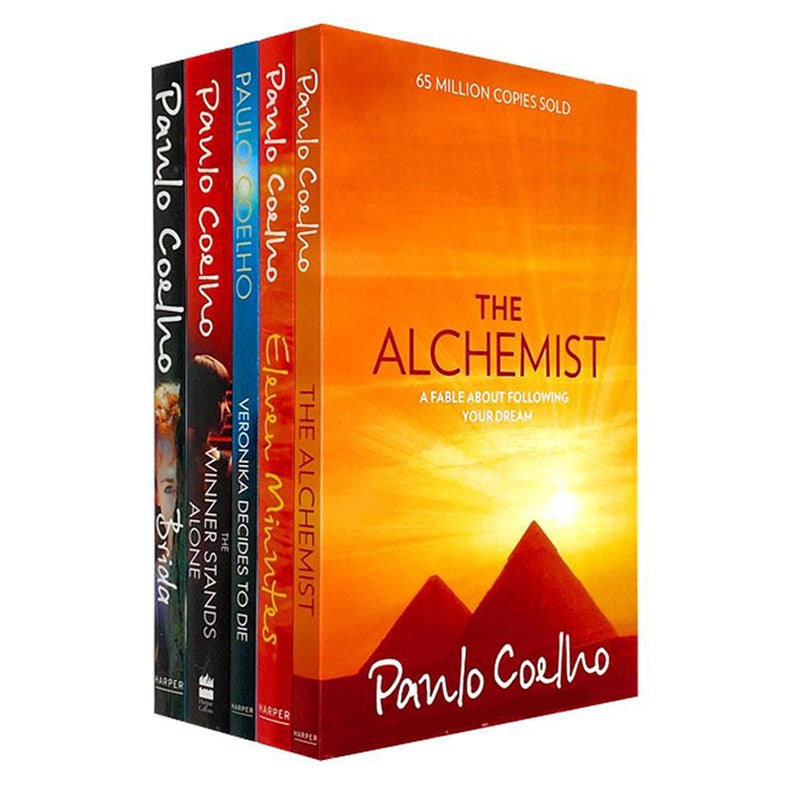 Paulo Coelho 5 Books Collection Box Set Pack Alchemist, Eleven Minutes, Brida