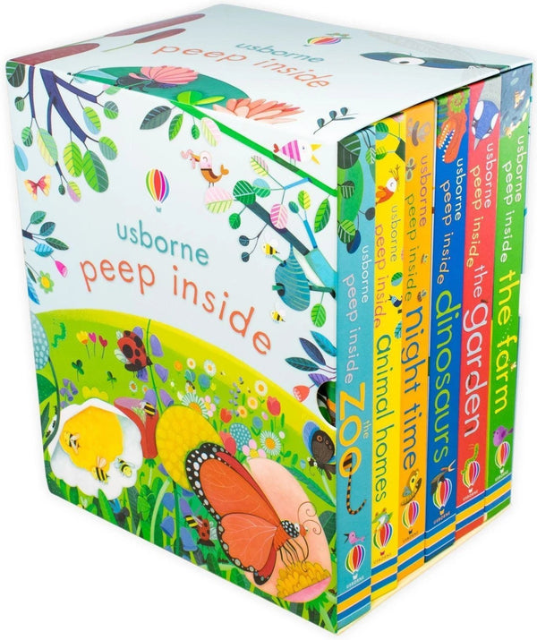 Usborne Peep Inside 6 Board Books Children Collection Box Set Toddlers