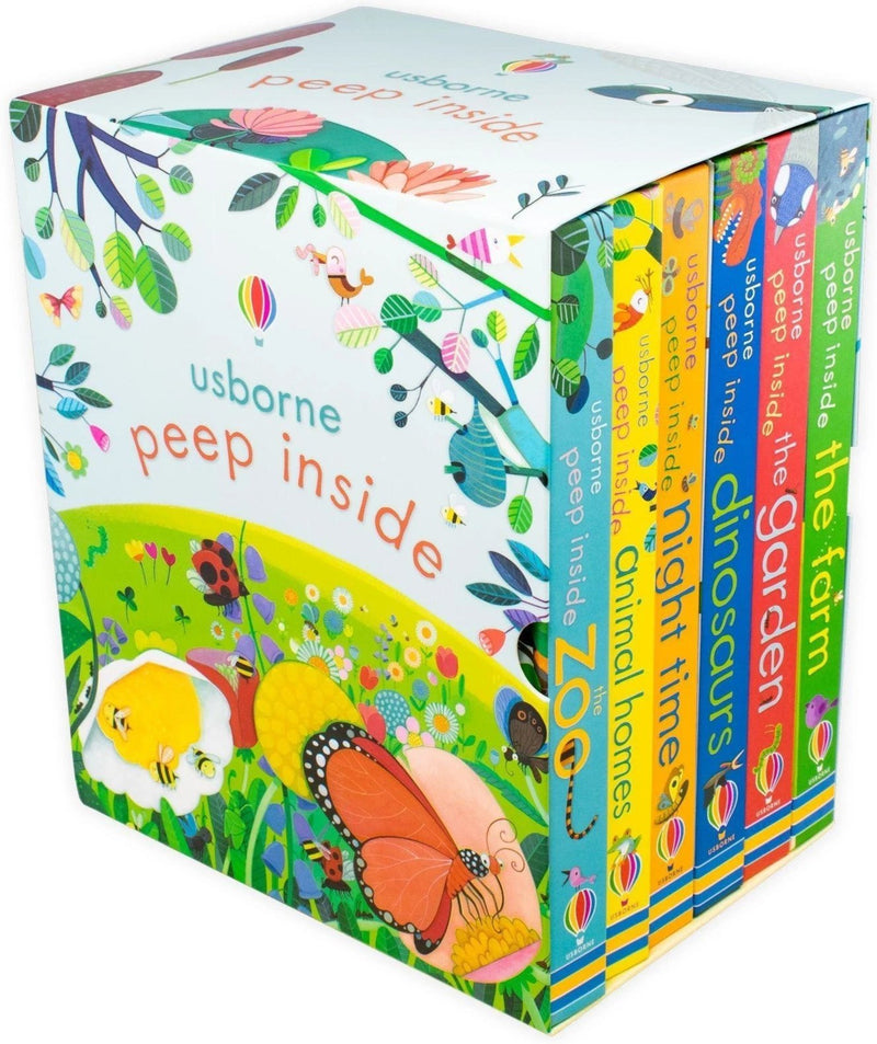 Usborne Peep Inside 6 Board Books Children Collection Box Set By Olga Demidova