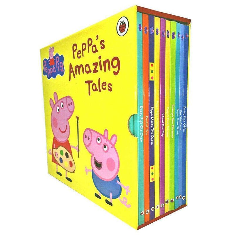 Peppa Pig Amazing Tales 10 Young Books Box Set Collection Children Pack