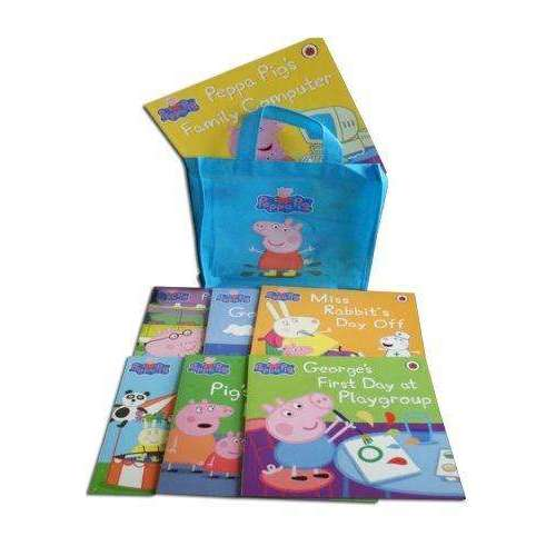 Peppa Pig Collection 10 Books Set in a Bag Children Picture Flat Blue series 1