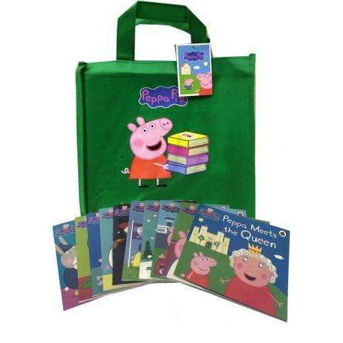 Peppa Pig Series 2 Collection 10 Books Set in a Green Bag Children Flat Pictures