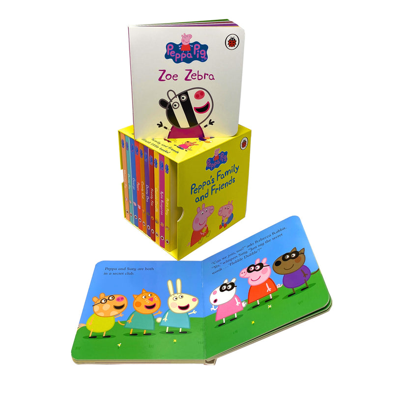 Peppa's Family and Friends Collection 12 Books Box Set Pack Peppa Pig