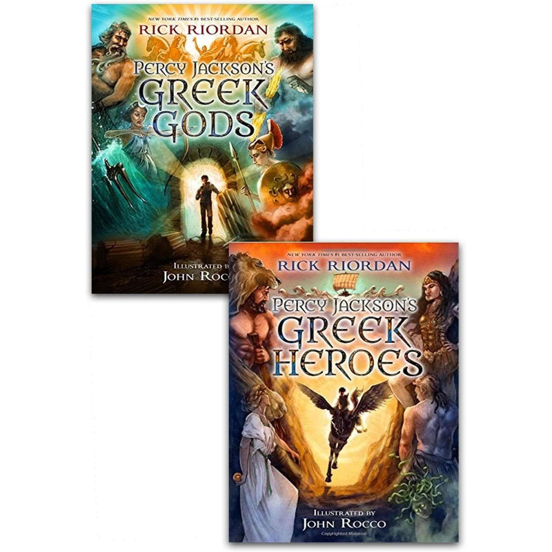 Percy Jackson illustrated edition Greek Myths Collection Rick Riordan 2 Books Set Pack Hardback