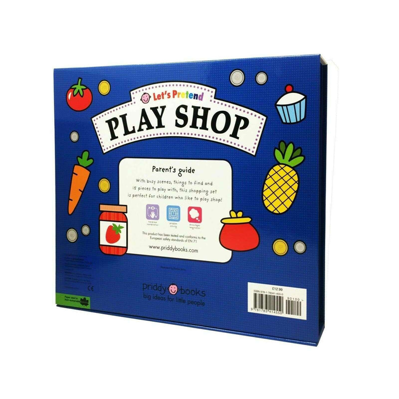 Play Shop (Let's Pretend) Sets By Roger Priddy Books Childrens Board Book Set