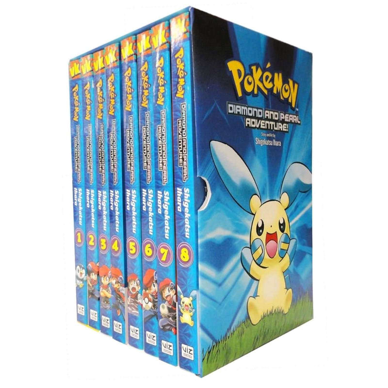 Pokemon Adventure Diamond and Pearl 8 Books Childrens Collection Box Set Pack