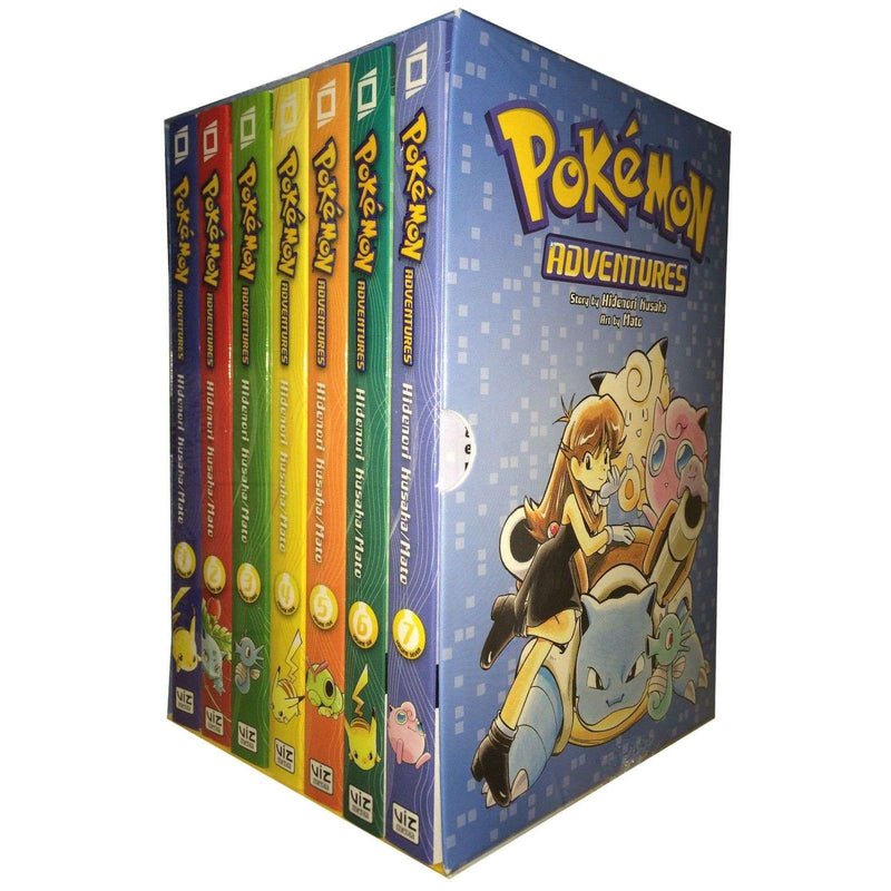 Pokemon x 7 Adventures Red & Blue Box Set: Volumes 1-7 by Mato Collection Series 1