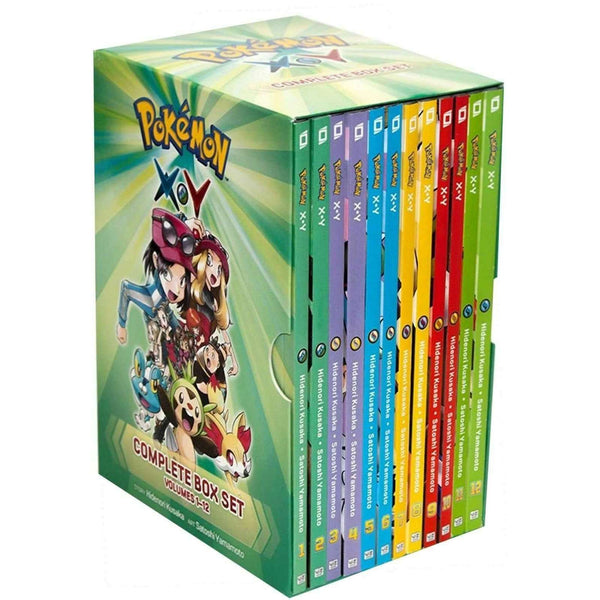 Pokemon XY Complete Collection 12 Books Box Set by Hidenori Kusaka (Vol 1-12)