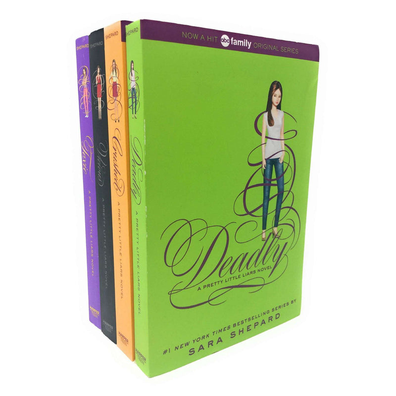 Pretty Little Liars 4 Books Box Set Collection By Sara Shepard, Toxic Series 4