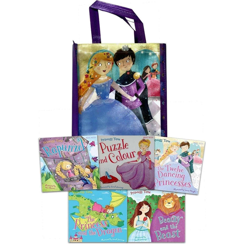 Princess Adventure Collection 5 Books Set Pack Rapunzel, Beauty and the Beast