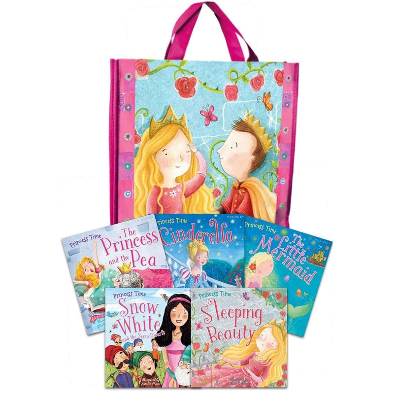 Princess Time Collection 5 Books Set in a Bag Children Pack Little Mermaid