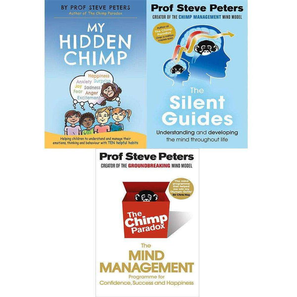 Professor Steve Peters 3 Books Set Collection,The Silent Guides, My Hidden Chimp