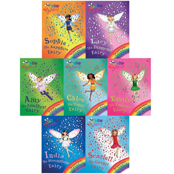 Rainbow Magic Jewel Fairies Collection Daisy Meadows 7 Book Set Series 4 (Vol 22 - 28)