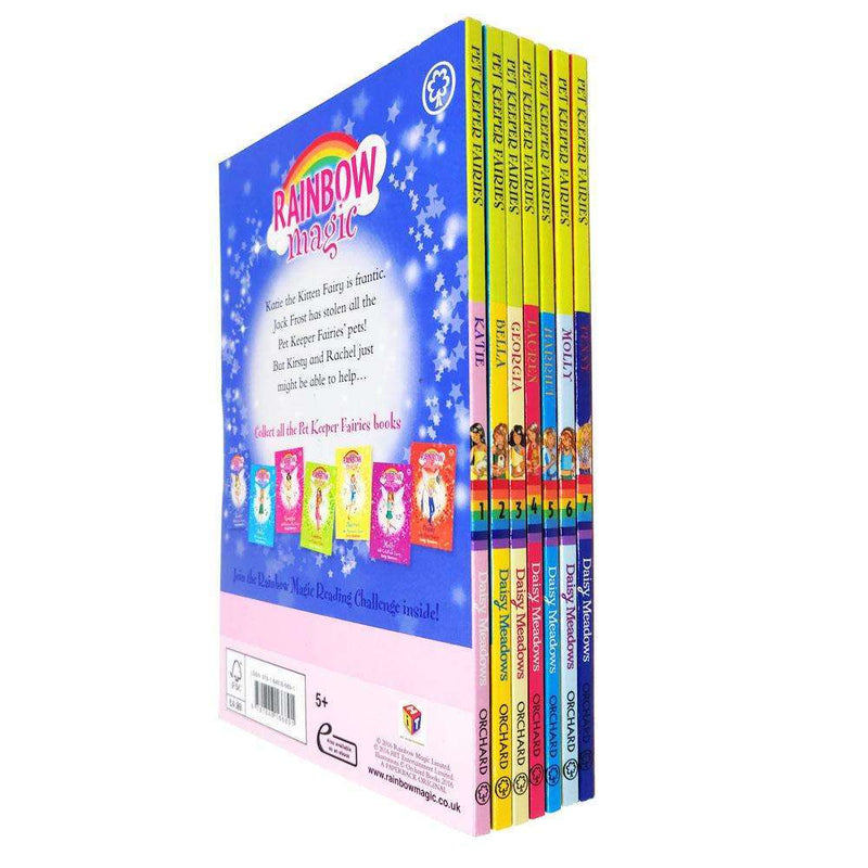 Rainbow Magic Pet Keeper Fairies Collection Daisy Meadows 7 Book Set Series 5 (Vol 29 to 35)
