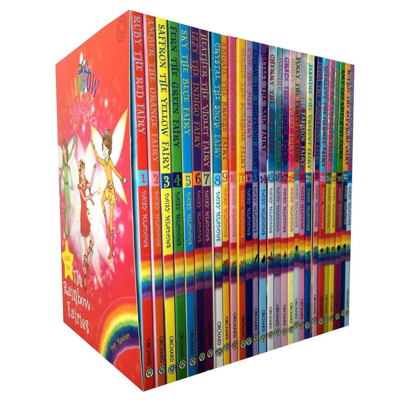 Rainbow Magic Series 1,2,3,4 Collection of 28 Books Set Jewel, Party, Weather