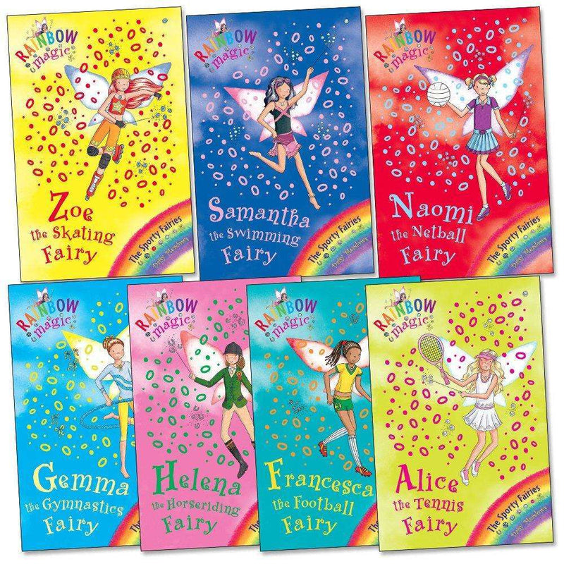 Rainbow Magic Sporty Fairies Collection Daisy Meadows 7 Books Set Series 9 (Vol 57 To 63)