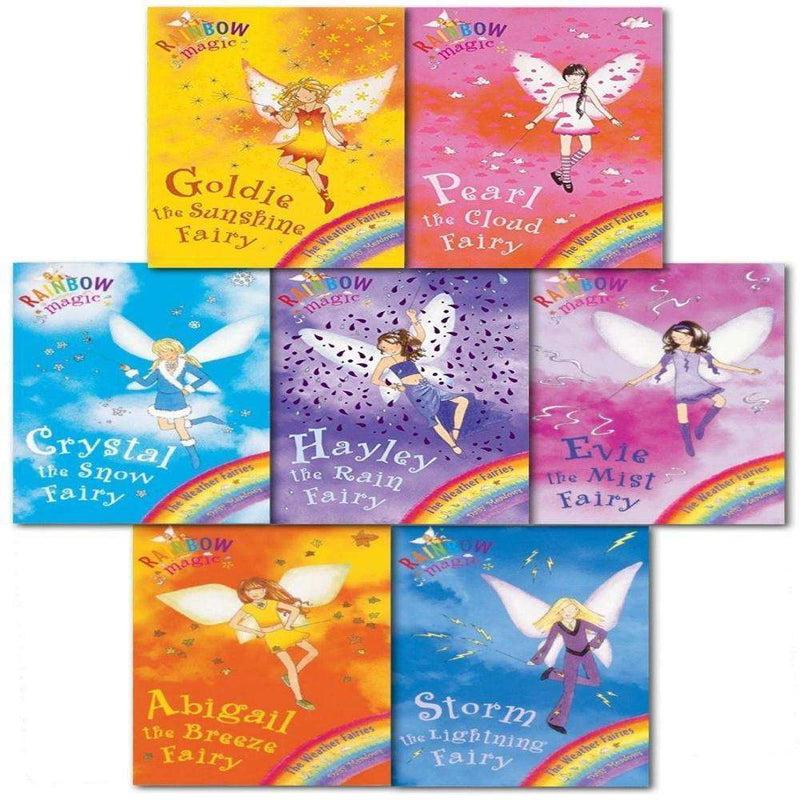 Rainbow Magic Weather Fairies Collection Daisy Meadows 7 Books Set Series 2 (Vol 8 to 14)