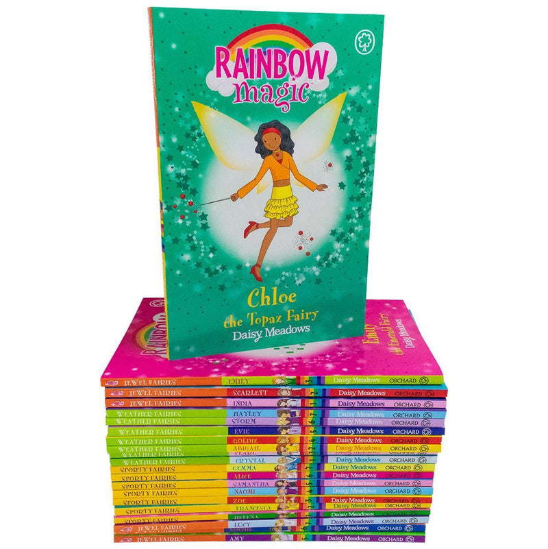 Rainbow Magic 21 Books Set Collection - Sporty Jewel and Weather Fairies
