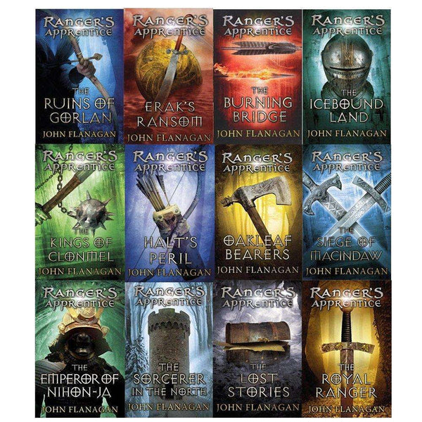 Rangers Apprentice Series Gorlan Oakleaf 12 Books by John Flanagan