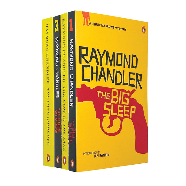 Raymond Chandler 4 Books Set Collection The Big Sleep, The Lady in the Lake